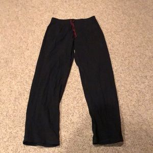 Lululemon black lounge drawstring yoga pants L